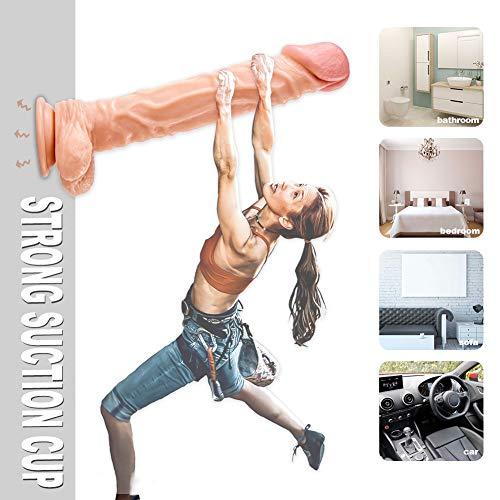 SHEQU Realistische Dildos und Real Dong Penis aus Medizinische Silikon für Frauen 26cm - 2