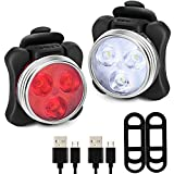 Degbit Bike Light Set, [Update] USB Rechargeable Bicycle Light Mountain Bike Light, Super