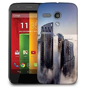 Snoogg Big Buildings Designer Protective Phone Back Case Cover For Motorola G / Moto G