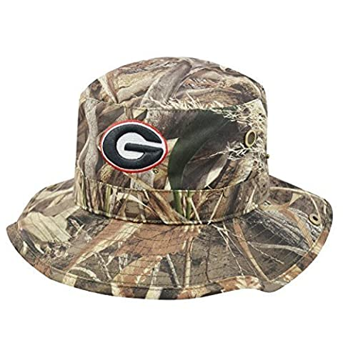 Georgia Bulldogs UGA Bucket Hat Realtree Camo Boonie Max by Top of the World