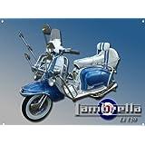 A3 GRANDE LAMBRETTA LI 150 LETRERO METAL