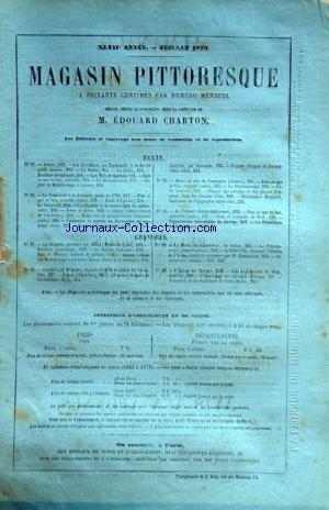 MAGASIN PITTORESQUE [No 47] du 01/07/1879 - TEXTES ET GRAVURES - JAUJAC - DESSIN DE J.B. LAURENS