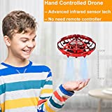 BOMPOW Drones, Interactive Mini Drone for Kids and Adults, Rechargeable Hand Controlled RC