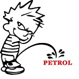 #9: marvellous Petrol Boy car sticker (Black and Red colour)