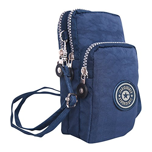 d657a25e6978 Wocharm Ladies Girls Nylon Design Small Crossbody Shoulder Bag Wristlet  Handbags (Navy Blue)