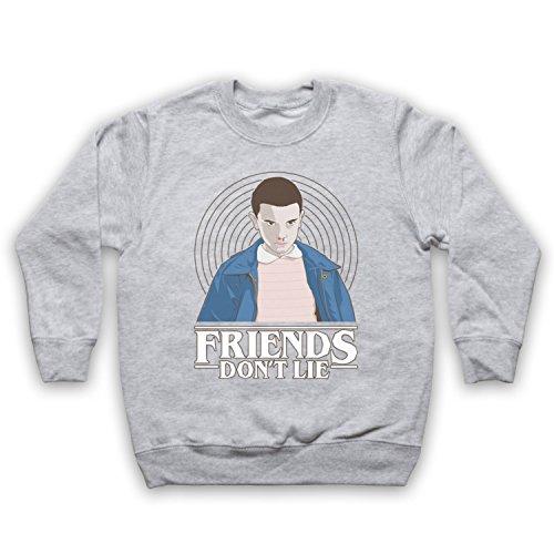 stranger-things-elle-eleven-11-friends-dont-lie-sweat-shirt-des-enfants-gris-7-8-years