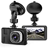 Dash Cam, Telecamera per auto con Full HD 1080P Telecamere grandangolari da 170 gradi, display TFT...