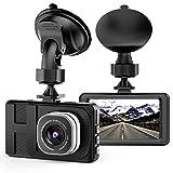 Dash Cam, Telecamera per auto con Full HD 1080P Telecamere grandangolari da 170 gradi, display TFT da 3,0', G-Sensor, WDR, Loop Recording