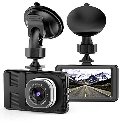 Dash Cam, Telecamera per auto con Full HD 1080P Telecamere grandangolari da 170 gradi, display TFT da 3,0
