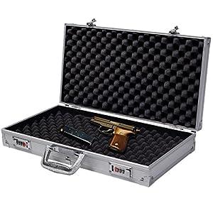 """Blitzzauber24 19"""" Fusil de Chasse Fusil Cas Aluminium Coque Rigide vol Pistol Stockage Rembourrage"""