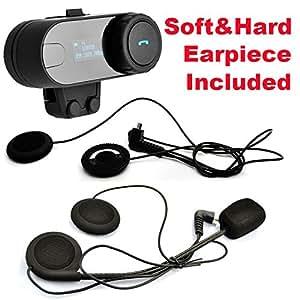okymrfed5 @TCOM-SC W/écran Bluetooth moto casque 800M Intercom Headset+Moto Bluetooth intercom cordon oreillette - (soft)