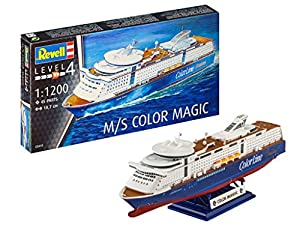 Revell- Maqueta Cruiser Ship M/S Color Magic, Kit Modelo, Escala 1:1200 (5818) (05818), 18,7 cm de Largo (