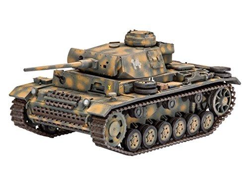 Revell Modellbausatz Panzer 1:72 - PzKpfw III Ausf. L im Maßstab 1:72, Level 4, originalgetreue Nachbildung mit vielen Details, 03251