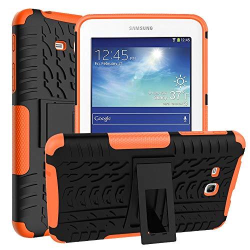 Asstar Schutzhülle für Samsung Galaxy Tab E Lite 7.0 SM-T113 und Tab 3 Lite T110 / T111 Schwarz/Orange