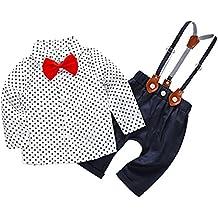 c9090b375cc20 Feoya Traje de Bebé Recién Nacido Camisa con Pajarita Pantalones Ropa de  Bautizo Fiesta Boda Niño