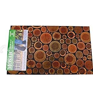 Tappeto ingresso esterno zerbino decoro mosaico tronchi for Arredo casa amazon
