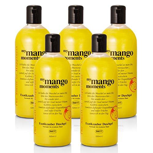 BRUBAKER Happiness - Gel douche hydratant & relaxant - Mangue - Lot de 5 x 520 ml