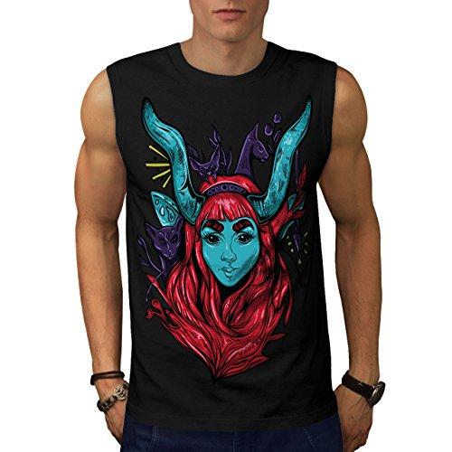 Tank-top übernatürlichen (wellcoda Mystisch Tier Männer 5XL Ärmelloses T-Shirt)