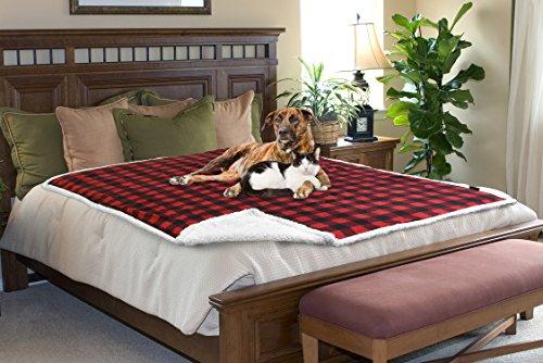 Pawsse Wasserdicht Pet Kuscheldecke, Hund Welpen Cat Fleece-Sherpa Wirft Kissen Matte für Auto Möbel Displayschutzfolie Cover Medium 127x 152,4cm -