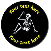 35 Personalised Skeleton Science Halloween Childrens Pupils Motivational School Praise Teachers Reward Stickers 37mm Primary Teaching Services