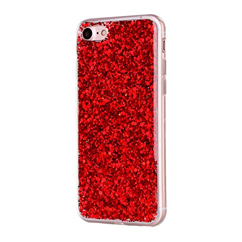 Movoja® [ iPhone 7 / iPhone 8 Hülle Case ] | PERFEKTE Passform | TPU Schutzhülle Crystal Case | Durchsichtige Silikon Hülle transparent iPhone7 / iPhone8 klar Cover Apple Case Silikon Crystal Case für Rot