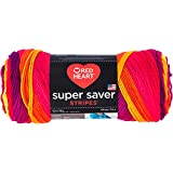 Red Heart Super Saver Yarn - Fruity Stripe (Pack of 3 )