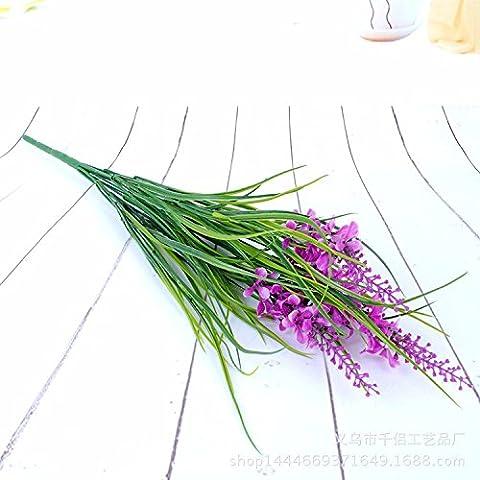 KAI-lila blume simulation blume simulation lange gras nach hause gebracht. insgesamt 10 52cm hoch (Essbare Arrangements Weihnachten)