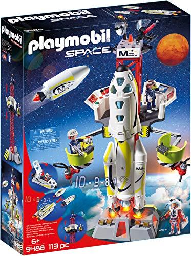 Playmobil- Cohete con Plataforma de Lanzamiento Juguete, (geobra Brandstätter 9488)