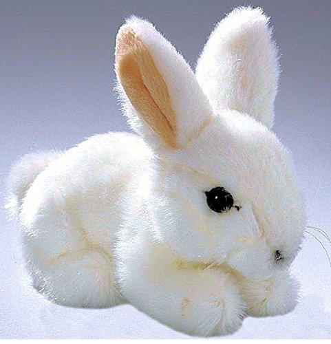Hase Häschen sitzend weiß 17 cm Plüschtiere, Kuscheltiere, Stofftiere, Plüschkaninchen, Kaninchen, Plüschhasen