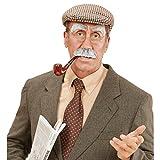 Conjunto de pelo nariz, cejas y orejas de abuelo falso anciano pelo gris viejo traje