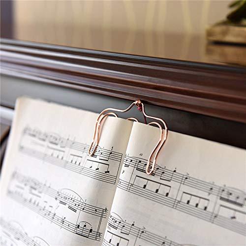Creative Metall Hohl Seite Halter mit Lang Quaste Musik Tabelle Clip Lesezeichen für Klaviere, Muscian ()