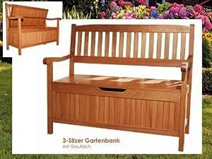 gartenbank mit aufbewahrungsfach holzbank mit. Black Bedroom Furniture Sets. Home Design Ideas
