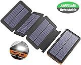Caricabatterie Solare X-DRAGON 25000mAh Solare Powerbank Batteria Esterna con 4 Pannelli Solari, Uscite e Ingressi USB Dual per Cellulare iphone Samsung Huawei Smartphone Campeggio Esterno