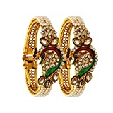 #1: YouBella Jewellery Traditional Gold Plated Bracelet Bangle Set For Girls and Women