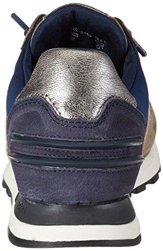 Bugatti 422285023449, chaussons d'intérieur femme Grau (Grey / Dark Blue)