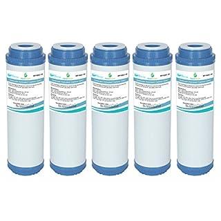 AquaHouse GAC Granulataktivkohle-Wasserfilterkartusche für Umkehrosmose, 25,4 cm (10 Zoll), NDL2, NP1, GAC-10, Trinkwasserfilter, 5 Stück