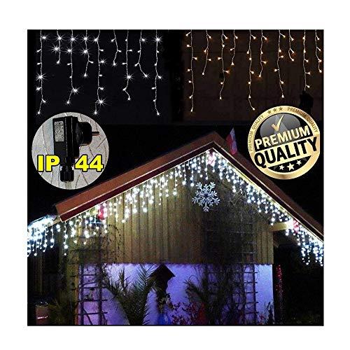 600/400 / 200 LED **Premium** EISREGEN WARMWEISS oder KALTWEISS~ges. 20m / 15m~WEIHNACHT-Lichterkette~Schnee~EISZAPFEN