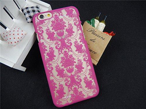 Coque iPhone 6 Plus/6s Plus , iNenk® rétro Palace fleur Matte dur PC Shell protection manches Fashion cas marée couvrir pour femmes-bleu Rose1