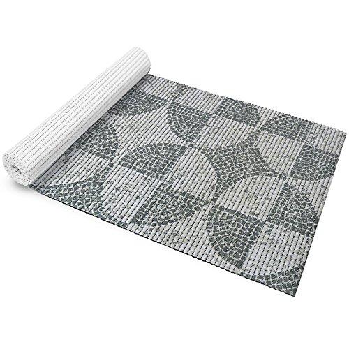 casa pura Badematte aus Weichschaum | zahlreiche Größen | schadstoffgeprüft gemäß Reach | Rutschfester Badvorleger | abwaschbar & schnelltrocknend | 65120 cm | Mosaik-Design