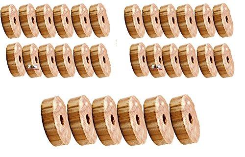 all-around24® 30 Stück Mottenschutz aus Zedernholz,Mottenringe Mottenschutz Bügelringe Gegen Motten (30 St.)