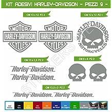 Pegatinas adhesivos HARLEY DAVIDSON UNIVERSAL para motos, motocicletas. Cod.0636 (Grigio Medio