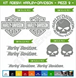 Aufkleber stickers HARLEY-DAVIDSON moto decal bike-Motorrad- Cod. 636 (Grigio Medio cod. 074)
