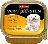 Animonda Vom Feinsten Adult, Nassfutter für ausgewachsene Hunde von 1-6 Jahren, mit Geflügel und Nudeln, 22 x 150 g