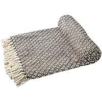 EHC–Algodón Suave Grande sofá Mantas Manta Doble Reversible Cama 150x 200cm, diseño de Silla, Color marrón