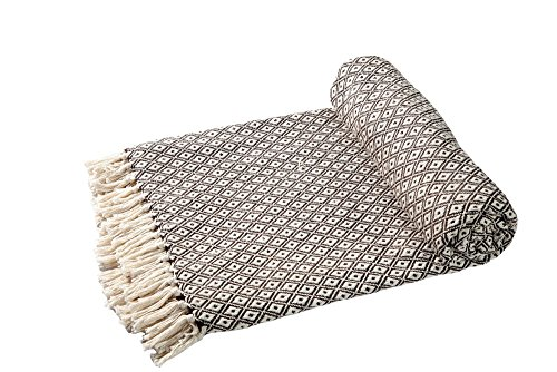 EHC Tagesdecke Decke Super Weiche Baumwolle Große wendbar Double Sofa überwürfen Bett Stuhl Bezug 150x 200cm, braun (Sofa Stuhl)