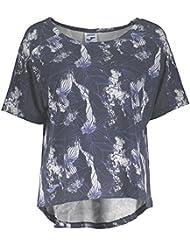 Joma Grafity Camiseta Amplia Manga Corta, Mujer, Marino, XL
