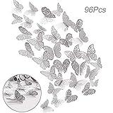 96pz Adhesivos Mariposas 3D Decorativos para Pared, Creatiees...