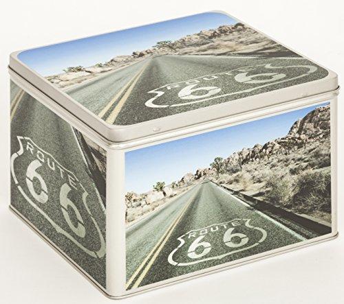 Fotoalbum Metalldose Schachtel Blechbox Keksdose Motiv USA Route 66