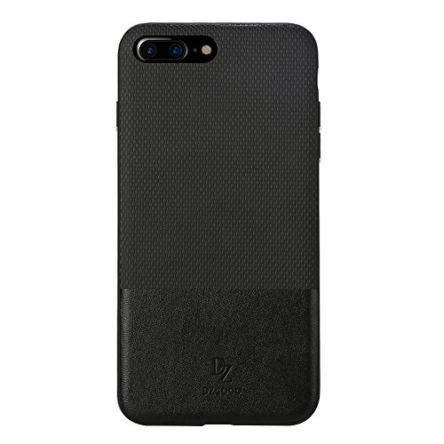 Hülle für iPhone 7 plus , Schutzhülle Für IPhone 7 Plus TPU + PC Business Style Lederbekleidung Schlagkombination Schutzhülle ,hülle für iPhone 7 plus , case for iphone 7 plus ( Color : Brown ) Black