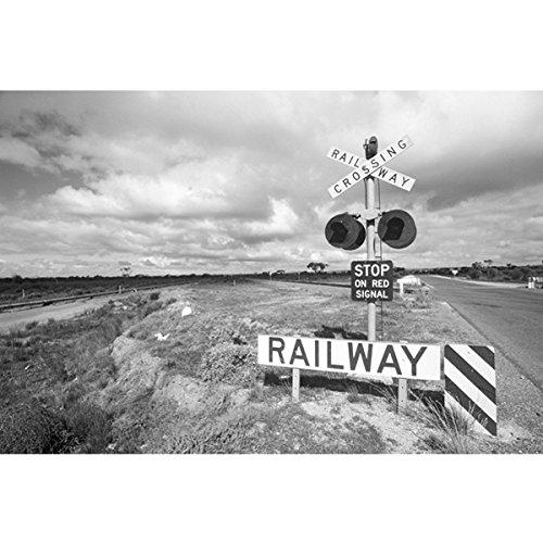 Wadeco Crossing Railway Fototapete Wandsticker Wandaufkleber XL = 400 cm x 267 cm Strukturvlies (Crossing Kreativ)